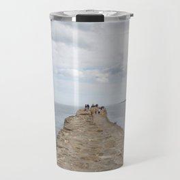 Sea wall St. Andrews Travel Mug