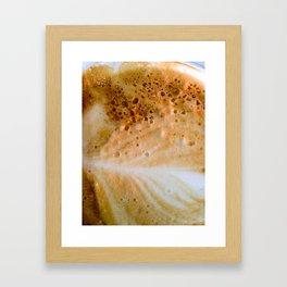 Close-up of a cafe latte Framed Art Print