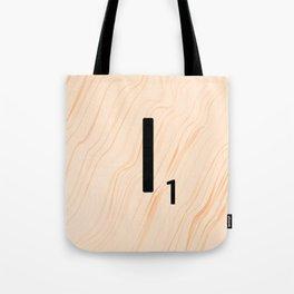 Scrabble Letter I - Large Scrabble Tiles Tote Bag