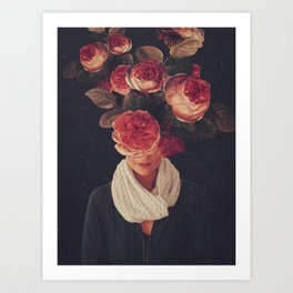 The smile of Roses Art Print