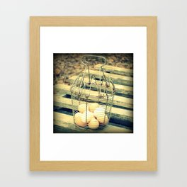 Eggs in a Basket Framed Art Print