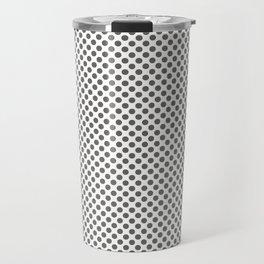 Pewter Polka Dots Travel Mug