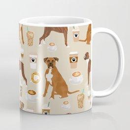 Boxer dog breed coffee pet gifts boxers pupuccino Coffee Mug