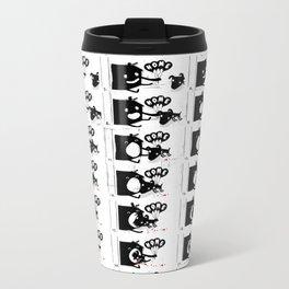 DOG HOUSE - flipbook/flickbook print Metal Travel Mug