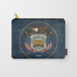 Utah State Flag, grungy style Carry-All Pouch