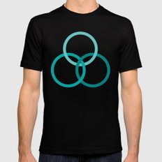 THE BOUND MEDIUM Mens Fitted Tee Black