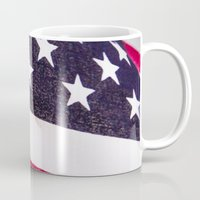 america Mugs featuring America by Mary Timman
