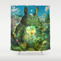 chihiro Shower Curtains featuring best neighbor  by ururuty
