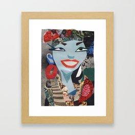 Carmen Miranda #PrideMonth Collage Portrait Framed Art Print