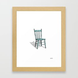 Blue Chair Framed Art Print