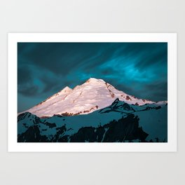 Mt Baker Blue Art Print