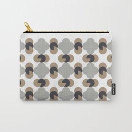 quatrefoil-neutral Carry-All Pouch