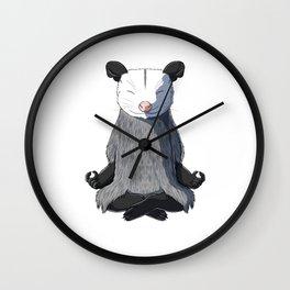 Opossum Meditated Wall Clock
