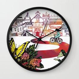 Summer Cycling Wall Clock