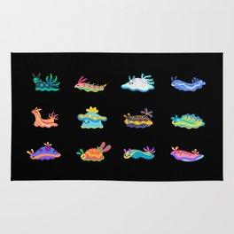 Sea slug - black Rug