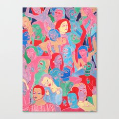 Alien Party Hard Canvas Print