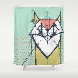 Cubist Cat Study #9 by Friztin Shower Curtain