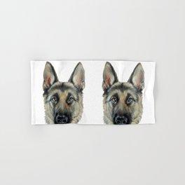 Shepard Dog illustration original painting print Hand & Bath Towel