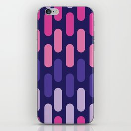 Colourful lines on navy background iPhone Skin
