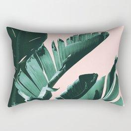 Banana Leaves Finesse #3 #tropical #decor #art #society6 Rectangular Pillow