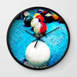 Billiards Art Print Pool Tal Decor 6 Wall Clock