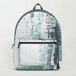 Gray green stained watercolor texture Backpack
