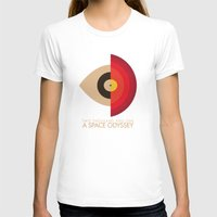 kubrick T-shirts featuring Stanley Kubrick - 2001: A Space Odessey by MathiasLaustrup