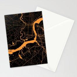 Philadelphia - The Orange and the Black Stationery Cards