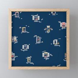 Paris Windows 2 Pattern Framed Mini Art Print