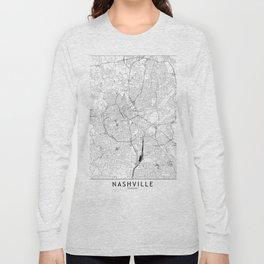 Nashville White Map Long Sleeve T-shirt
