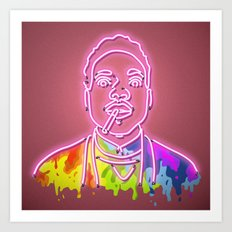 Chance the Rapper - Neon Sign Art Print