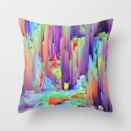 Pixel Sorting 43 Throw Pillow