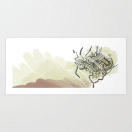 Gun in the water Art Print