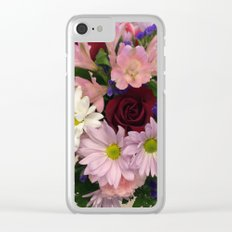 Bouquet of Flowers on wood Clear iPhone Case