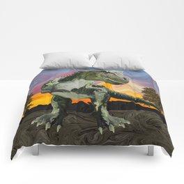 Tyrannosaurus Rex at the Twilight Hour Comforters