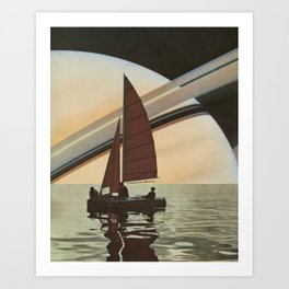 Sailing to Saturn Art Print