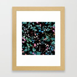 Great Nature Explosion at Night Framed Art Print
