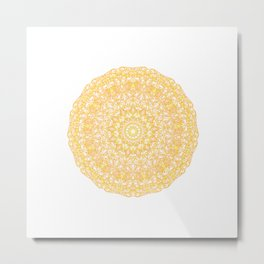 Mandala 13 / 1 yellow Citrine Metal Print