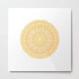 Mandala 13 / 1 yellow Citrine Metal Print