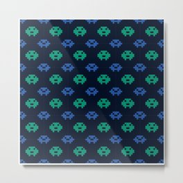 Video Games Pattern | Gaming Console Computer Play Metal Print