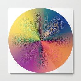Symmetry 10: Rainbow Metal Print