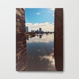 City Over Lake Metal Print