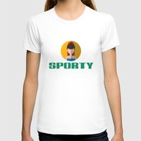 spice girls T-shirts featuring SPORTY SPICE by Chilli Cactus