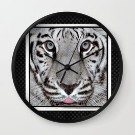 White Tiger with a little tougue Wall Clock