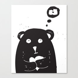 Dreamy bear Canvas Print