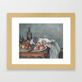 Still Life with Onions Framed Art Print