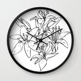 Day Lilies #2 Wall Clock