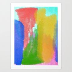 Colorful Paint Art Print