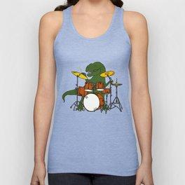 T-Rex Drummer Unisex Tank Top