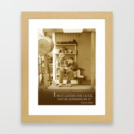 Govern the Clock Framed Art Print
